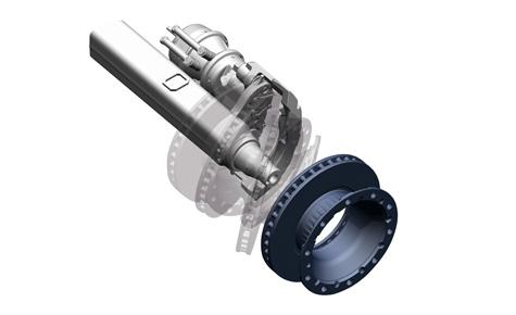 Dzięki modułowej budowie hamulca możliwy jest szybszy i łatwiejszy demontaż tarczy hamulcowej - bez demontażu zacisku hamulcowego.