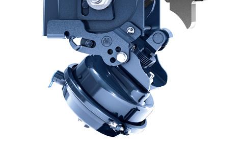 Nowy mechanizm dwustronnego podnoszenia osi jest szczególnie przyjazny podczas montażu. Redukuje to koszt montażu do 50%.