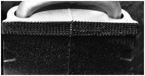 Rys. 3. Obrobiona laserowo powierzchnia współpracy wspornika miecha z korpusem osi.